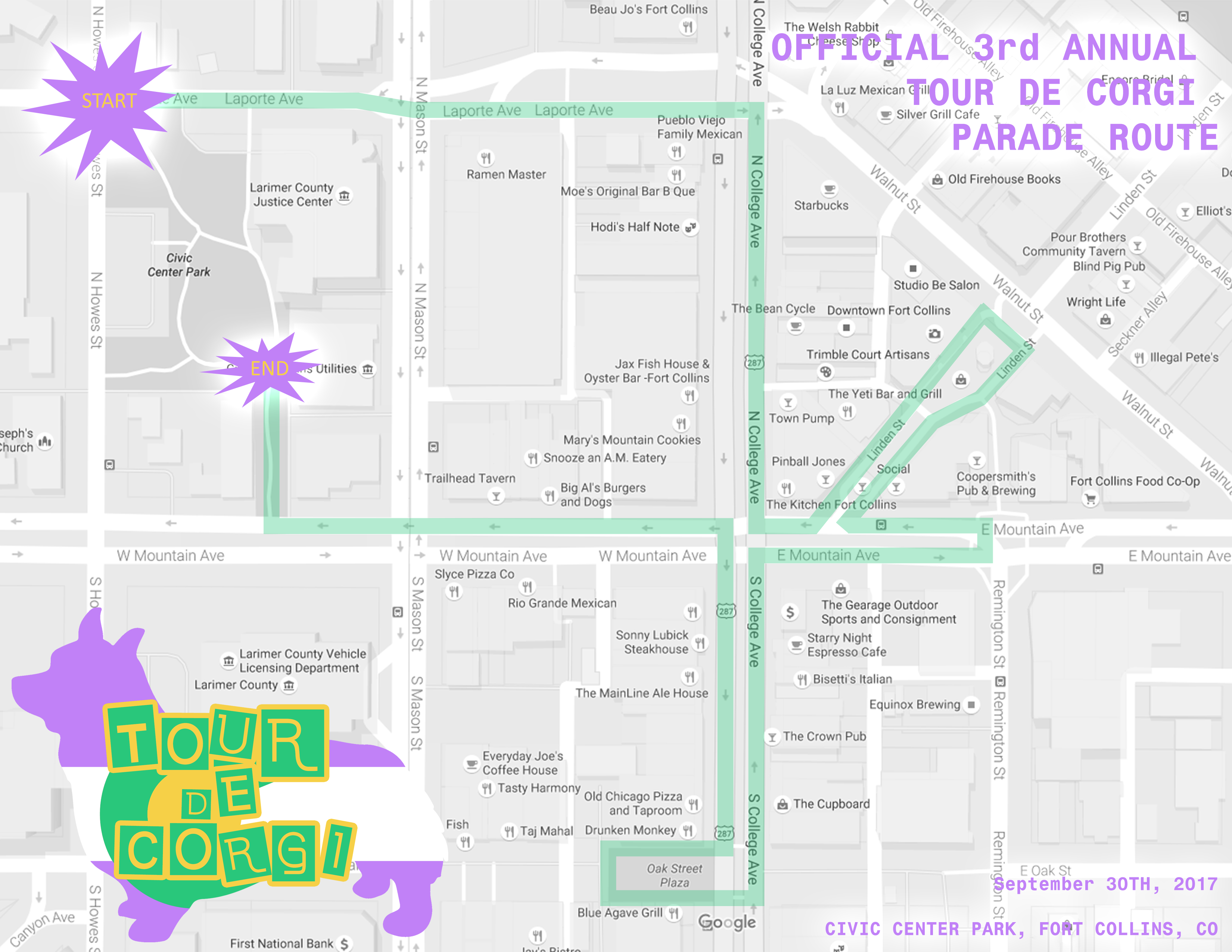 2017 Official TDC Parade Route
